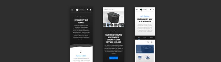 Mobile Website Comps