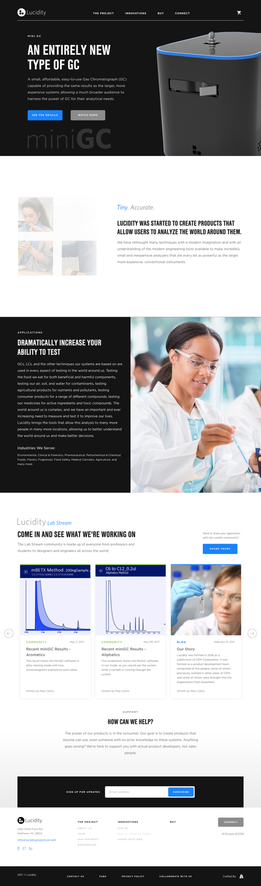 Lucidity Systems Custom Website